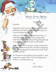 sample of baby u0027s first christmas santa letter from santa u0027s letters