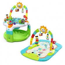 table eveil bebe avec siege cadeau d eveil 2 en 1 pour bébé tapis de jeux avec arche et siège