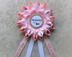 Mom To Be Corsage Baby Shower Corsage Etsy