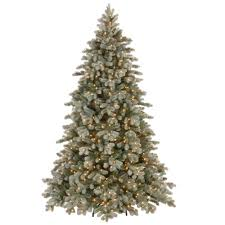 national tree company 7 1 2 ft poly frosted colorado spruce