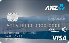 anz visa corporate card anz
