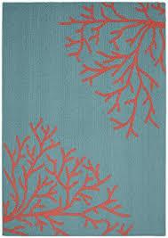 Teal Living Room Rug Amazon Com Garland Rug Sea Coral Area Rug 5 X 7 U0027 Teal Santa Fe