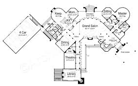 chateau novella luxury house plan small castle plan