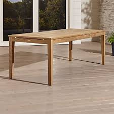 teak dining tables crate and barrel