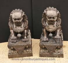 pictures of foo dogs pair xl bronze foo dogs keiloon fu temple statue china