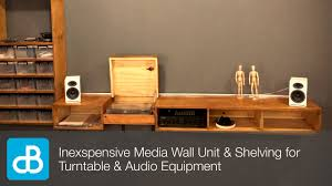 wall mounted record player inexpensive wall unit u0026 shelving for turntable u0026 audio equipment