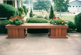Outdoor Benche - p u0026g woodcraft cedar outdoor bench planter