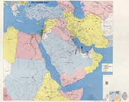 World Map Of Middle East by Large Scale Detailed Map Of The Middle East Kuwait Bahrain