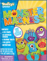 Easter Egg Decorating Kit Instructions by Monster Madness Egg Dying Kit U2014 Hello