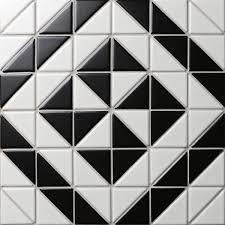 buy 2 u0027 u0027 matte black white triangle tile porcelain backsplash tile