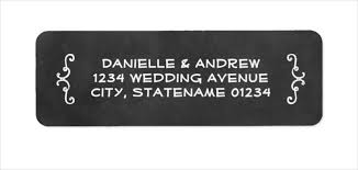 Chalkboard Wedding Program Template Sample Return Address Label Amusing Address Labels On Wedding
