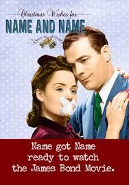 james bond movie christmas card emotional rescue funky pigeon