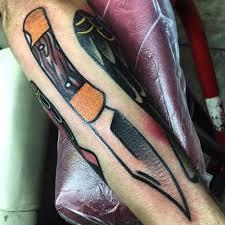 black torch tattoo