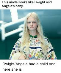 Meme Model - this model looks like dwight and angela s baby the office meme on