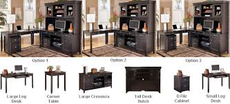buy online direct carlyle l desk credenza tall hutch set buy