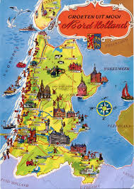 Map Of Netherlands Map Of Noord Holland Remembering Letters And Postcards
