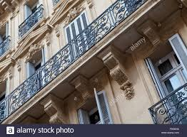 wrought iron balcony details from marseille france stock photo