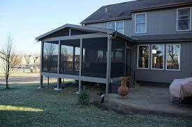 Screen Porch Roof Decks Com Shawnee Ks Deck Builder Pictures Urban Designs And