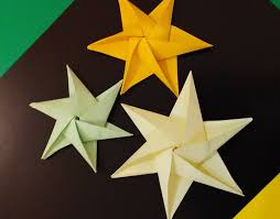 origami 3d star ideas for easter объемная звезда для декора из