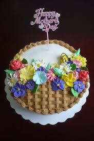 Royal Icing Decorations For Cakes Canasta Para Dia De Madres Bizcocho Mother Day Pinterest
