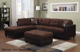 Microfiber Sofa Sectionals Furniture Best Design Of Brown Leather Sectional For Modern