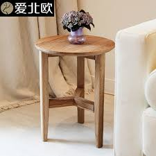 small round oak coffee table cheap wood block table buy quality table fire directly from china