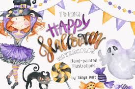 halloween graphic art halloween party clipart halloween clip art watercolor