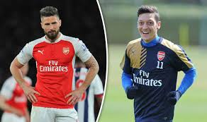mesut ozil hair style arsenal news olivier giroud claims everyone is to blame for title