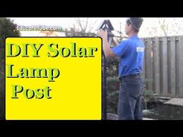 Backyard Light Post by Diy Solar Led Lamp Post Free Light Energy All Year Round And Looks