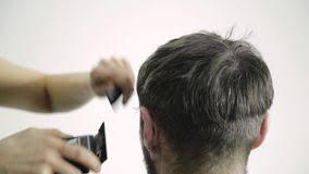 female haircutting videos clipper mens haircut at barbershop female hairdresser shaping mens hair