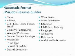 Usajobs Online Resume Builder by Federal Resume Writing Workshop Ppt Video Online Download
