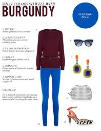 what goes well with blue style by red what colors go well with burgundy