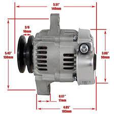 amazon com new mini denso type self exciting 60 amp alternator