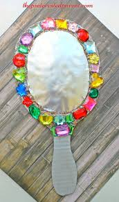Pinterest Crafts Kids - cardboard jeweled mirror craft for kids arts u0026 crafts for