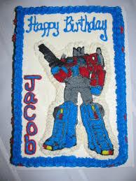 optimus prime cake pan transformers optimus prime birthday cake cakecentral