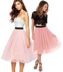 spodnica tiulowa romantyczna spódnica tiulowa różne kolory 3 4 midi 6770906962