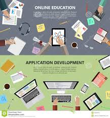 design online education online education and app development concept stock photo image of