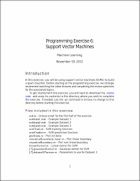 Machine Learning Resume Ex6 Programming Exercise 6 Support Vector Machines Machine