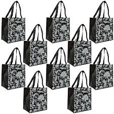 amazon com rebagme large reusable grocery bag totes with extra