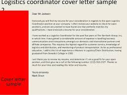 logistics coordinator cover letter 28 images logistics resume
