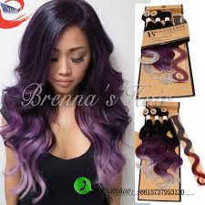 synthetic hair extensions new omber hair weave wave 1b purple ombre synthetic hair