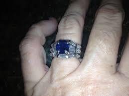 Diamond Sapphire Wedding Ring by Diamond And Sapphire Engagement Ring Ebay