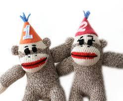 sock monkey birthday cake topper sock monkey by heidibg