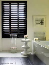 black modern shutters instead of a curtain i u0027m so happy i never