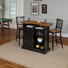 Oak Bar Table Home Styles Americana 3 Black And Oak Bar Table Set 5003 998