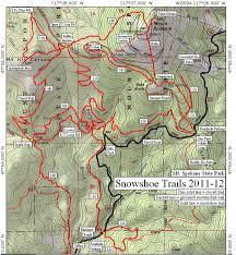 Spokane Map Healthy Diva Snowshoeing Mt Spokane