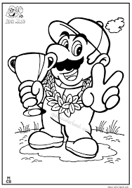 super mario coloring pages 04