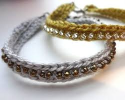 beaded bracelet crochet images More great yarn crochet bracelet tutorials to try the beading jpg