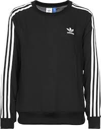 addidas sweater simple adidas 3 stripes sweater black adidas tops