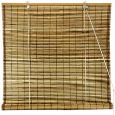 Bamboo Curtains For Windows Burnt Bamboo Roll Up Blinds Tortoise Walmart Com